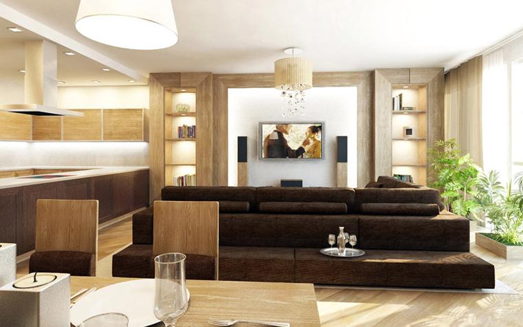 интерьер гостиной - фото № 5409