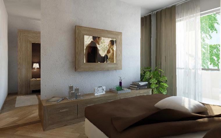 Квартира. спальня из проекта , фото №5415