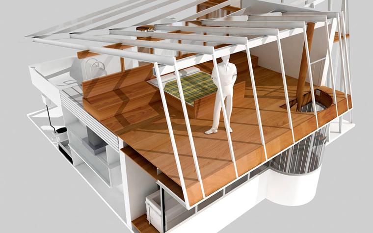 Квартира. спальня из проекта , фото №5821