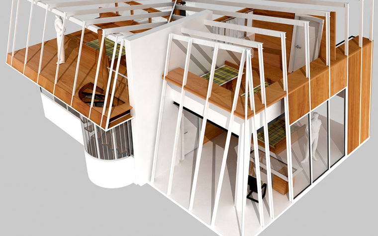Квартира. спальня из проекта , фото №5839