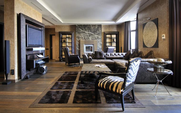 интерьер гостиной - фото № 5922