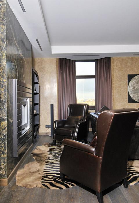 интерьер гостиной - фото № 5932