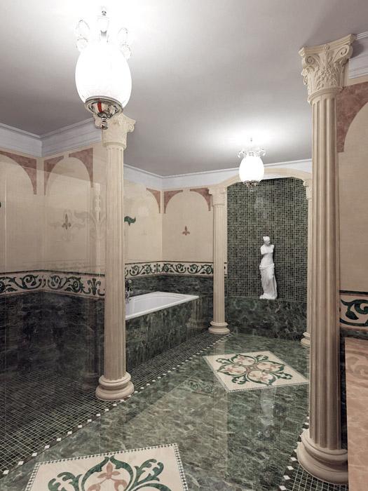 Квартира. ванная из проекта , фото №5216