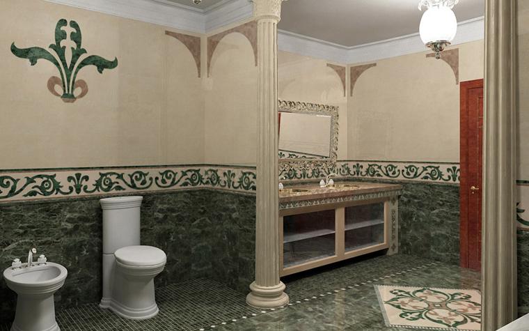 Квартира. ванная из проекта , фото №5217
