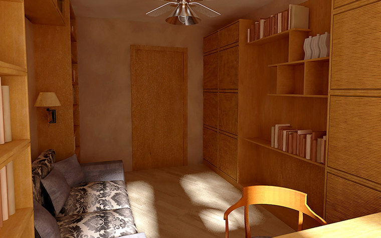 Фото № 6009 кабинет библиотека  Квартира