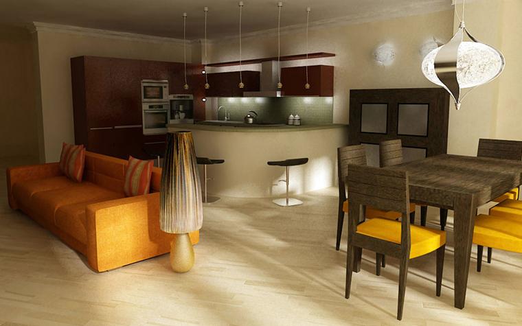 Квартира. кухня из проекта , фото №5292