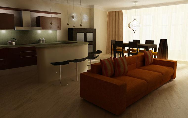 Квартира. кухня из проекта , фото №5291