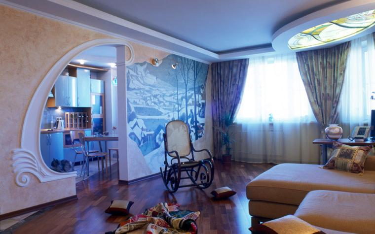 Квартира. гостиная из проекта , фото №6001