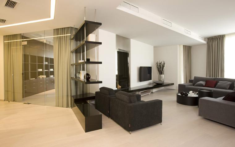 интерьер гостиной - фото № 5028