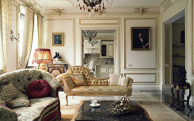 интерьер гостиной - фото № 9700