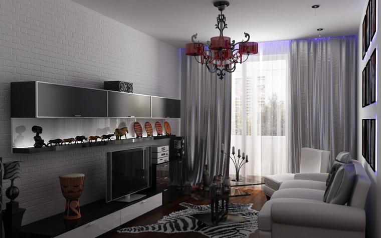 интерьер гостиной - фото № 6125