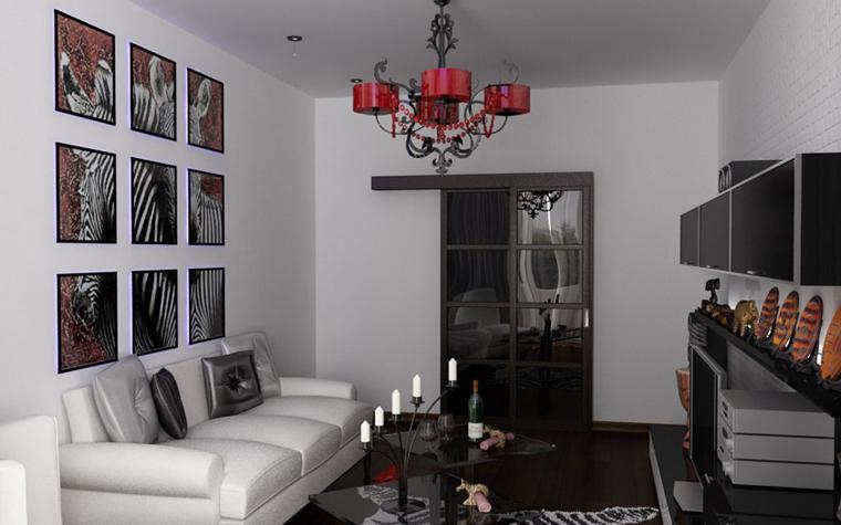 интерьер гостиной - фото № 6126