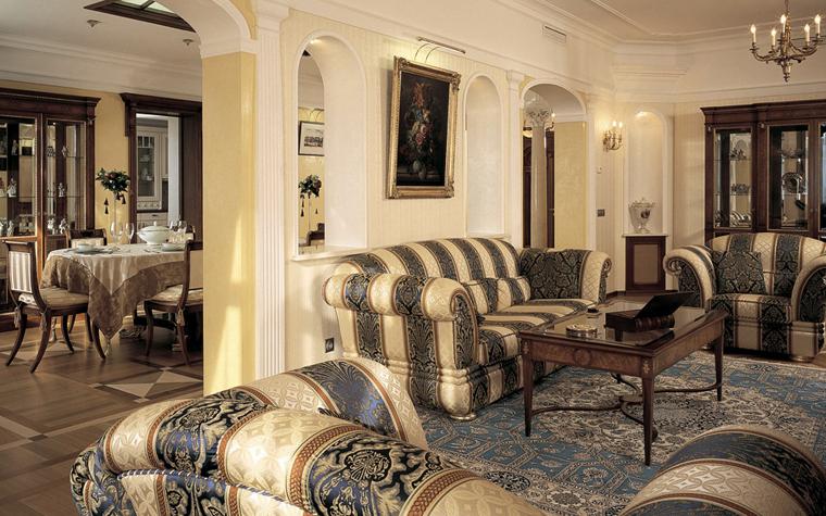 интерьер гостиной - фото № 3444