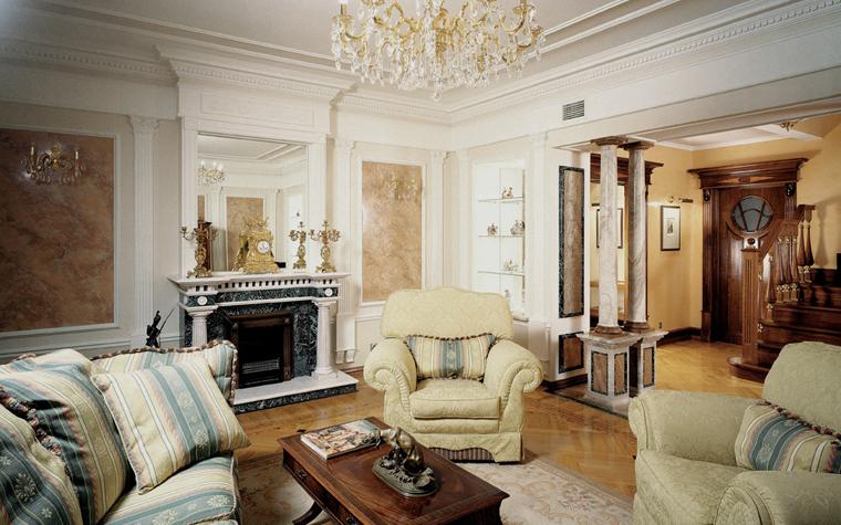 интерьер гостиной - фото № 3703