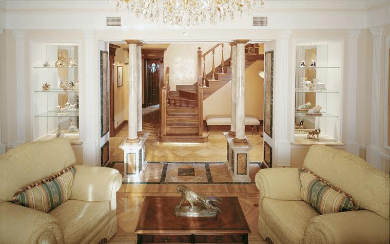 интерьер гостиной - фото № 3705