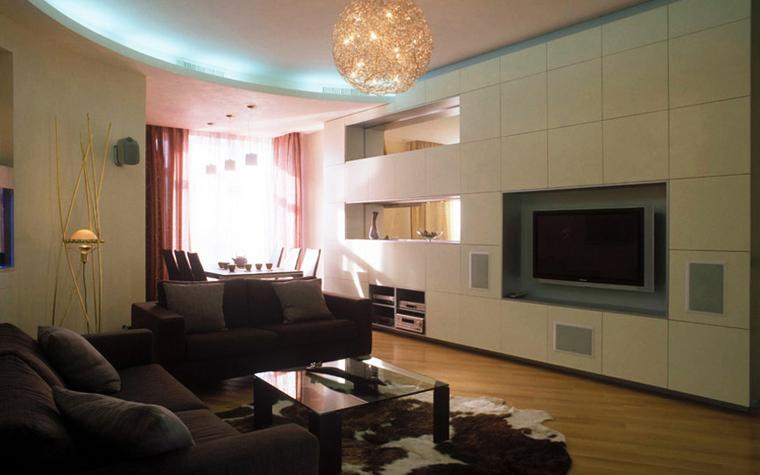 Квартира. гостиная из проекта , фото №6120