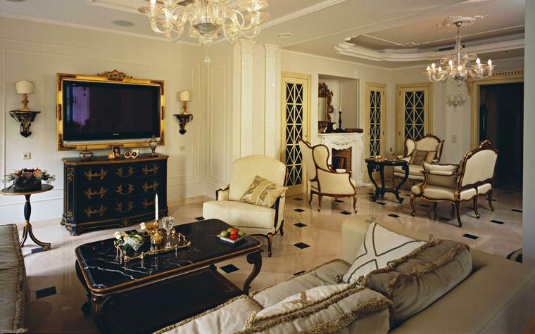 интерьер гостиной - фото № 5695