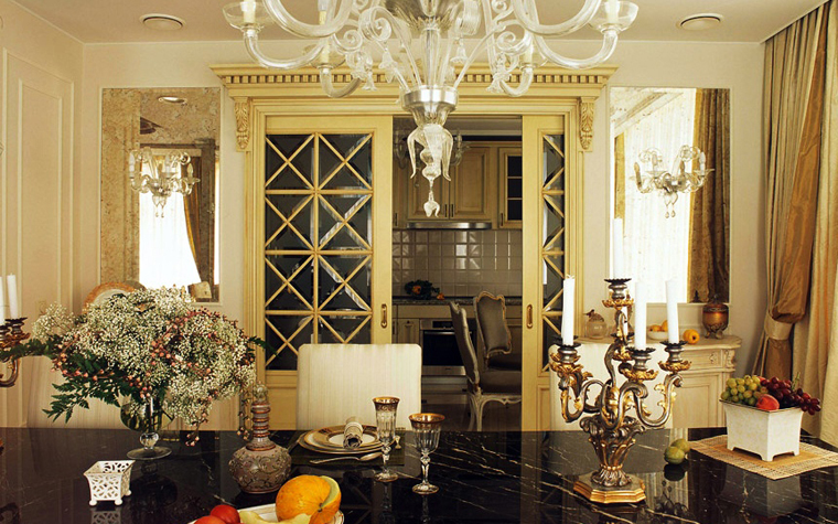 Квартира. столовая из проекта , фото №5699