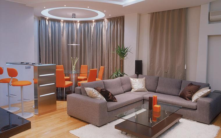 интерьер гостиной - фото № 6619