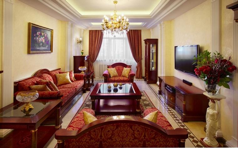 интерьер гостиной - фото № 7126