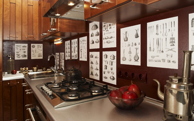 Квартира. кухня из проекта , фото №7536