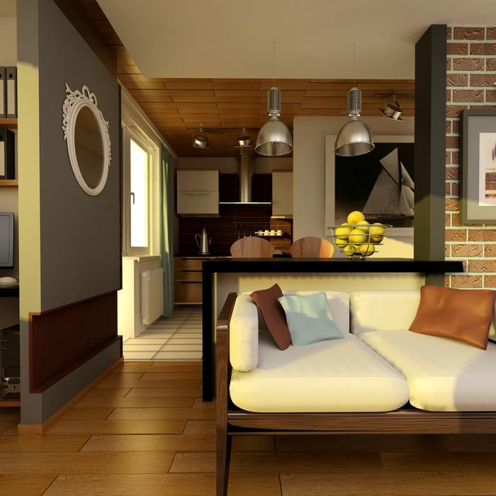 Квартира. гостиная из проекта , фото №7801