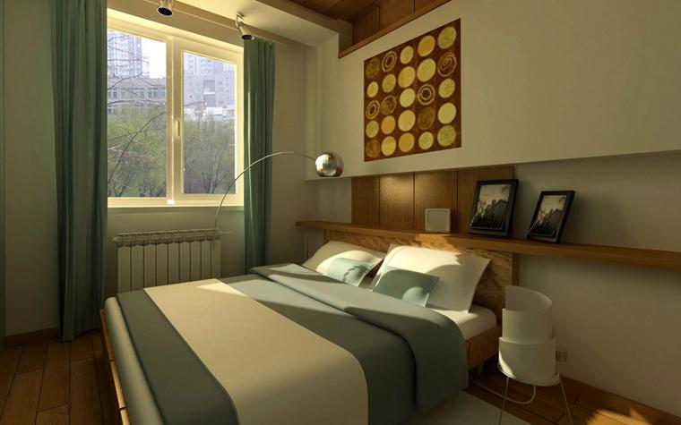 Квартира. спальня из проекта , фото №7799