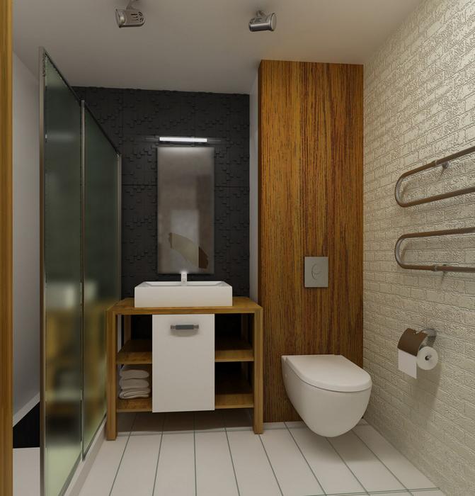 Квартира. ванная из проекта , фото №7807