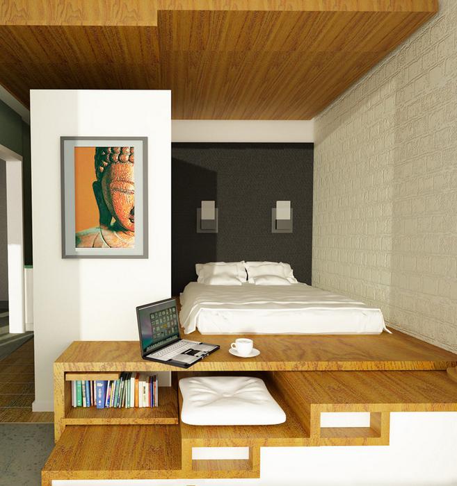 Квартира. спальня из проекта , фото №7804