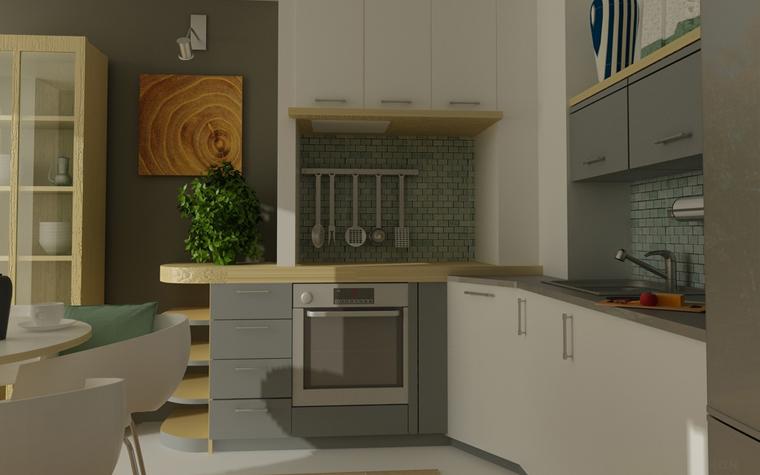 Квартира. кухня из проекта , фото №7813