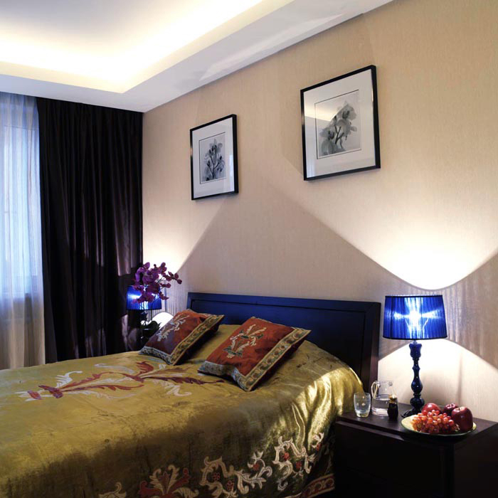 Квартира. спальня из проекта , фото №7827