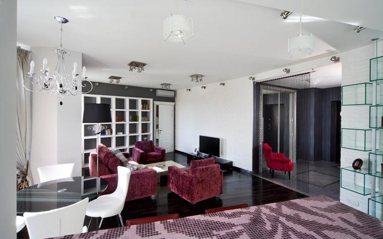 Квартира. гостиная из проекта , фото №8030