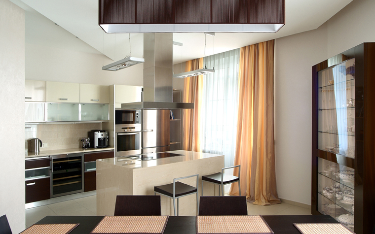 Квартира. кухня из проекта , фото №8056