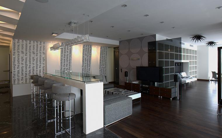 интерьер гостиной - фото № 8068