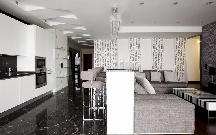 интерьер гостиной - фото № 8073
