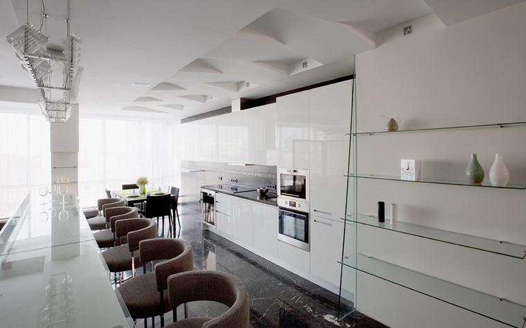 Квартира. кухня из проекта , фото №8105