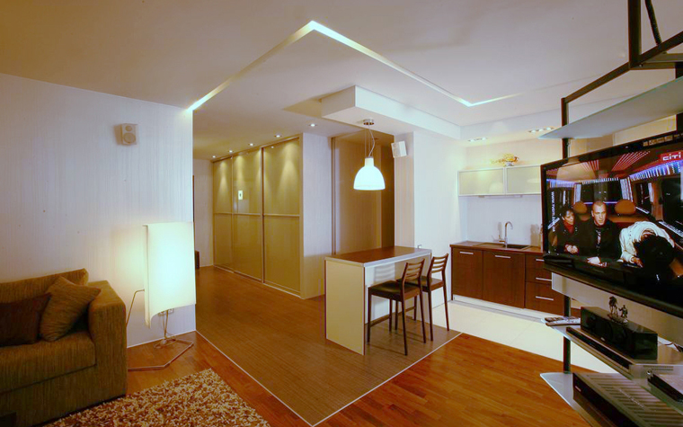 Квартира. гостиная из проекта , фото №8417