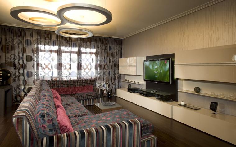 Квартира. гостиная из проекта , фото №8524