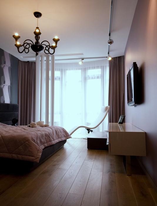 Квартира. спальня из проекта , фото №8541