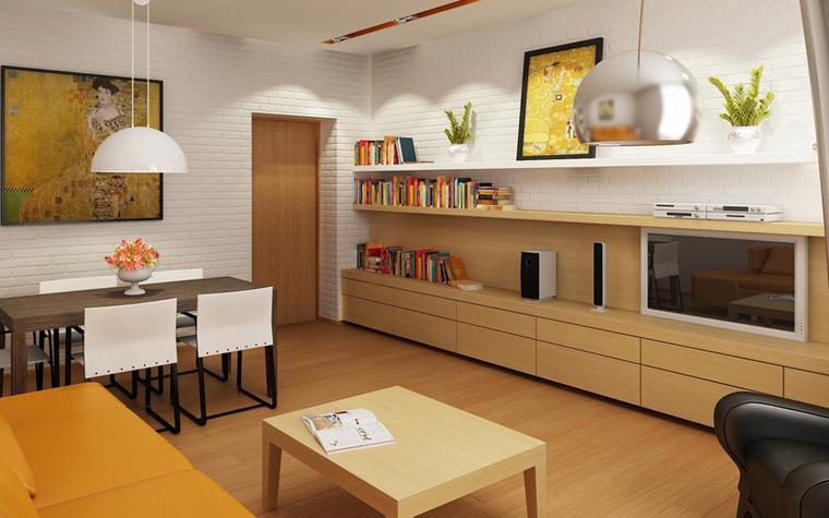 Квартира. гостиная из проекта , фото №8574