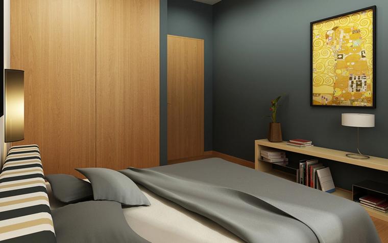 Квартира. спальня из проекта , фото №8572