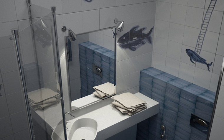 интерьер ванной - фото № 8594