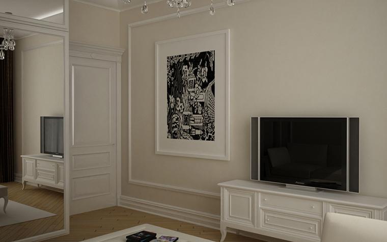 Квартира. гостиная из проекта , фото №8602