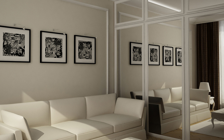 Квартира. гостиная из проекта , фото №8603