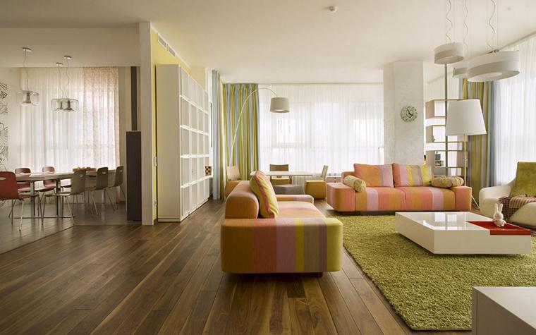 Квартира. гостиная из проекта , фото №8644