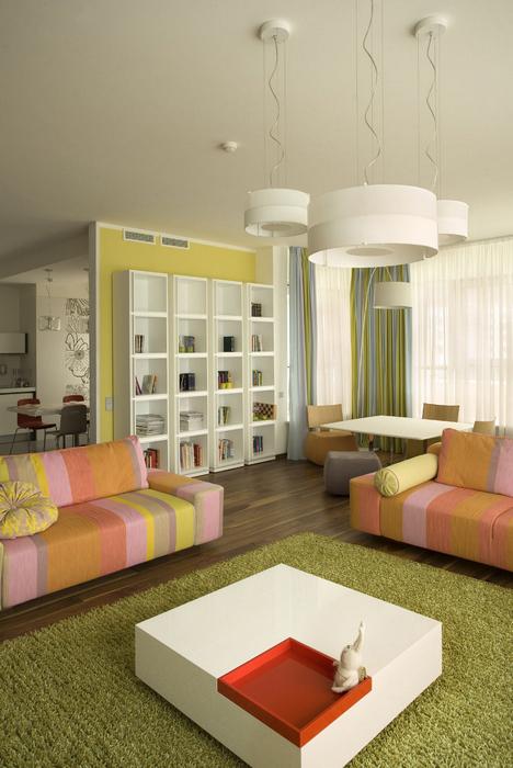 Квартира. гостиная из проекта , фото №8645