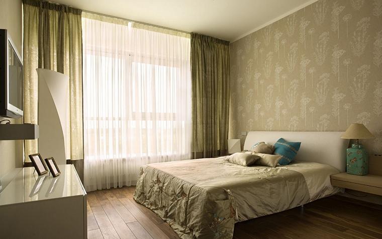 Квартира. спальня из проекта , фото №8648