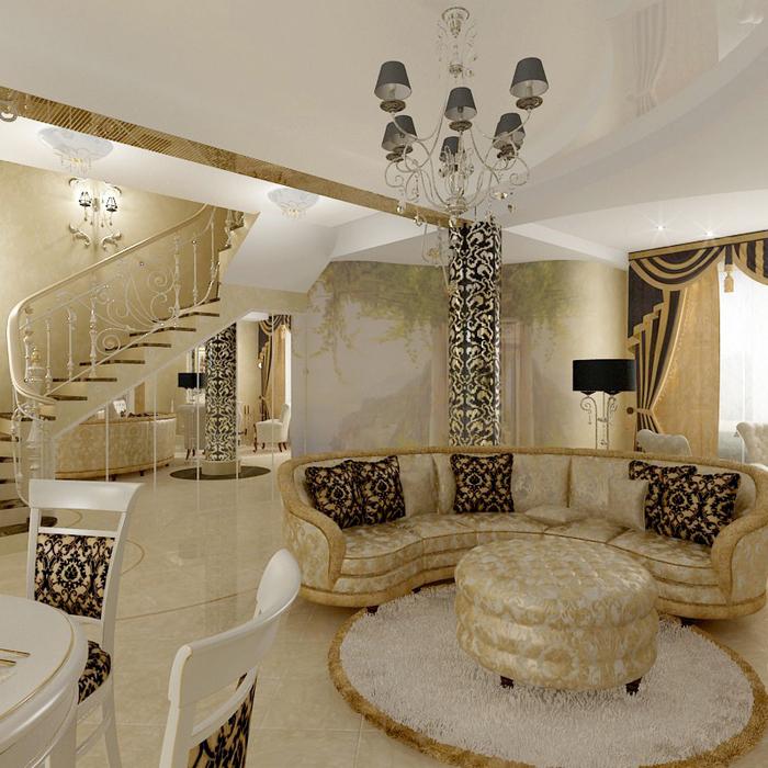 интерьер гостиной - фото № 8653