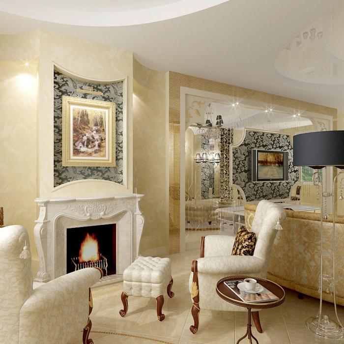 интерьер гостиной - фото № 8655