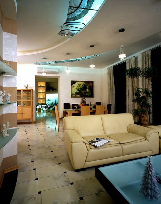 Квартира. гостиная из проекта , фото №8883